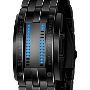 Binary luminescent watch